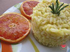 Risotto all'arancia e rosmarino