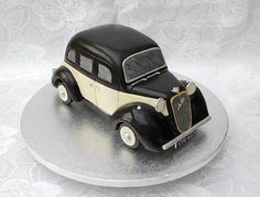 * 3D carved vintage car cake, everything edible even the lights, 100% carved sponge cake made by Verity's creative cakes x