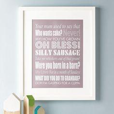 Personalised Family Sayings Print