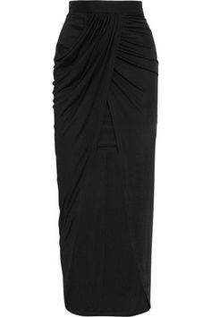 Balmain - Wrap-effect Jersey Skirt - Black - FR34