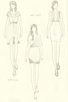 Note: Fashion sketching level: beginner. Credits to Yip Chi Hung, designer and publisher of Fashionary, for the figure templates.