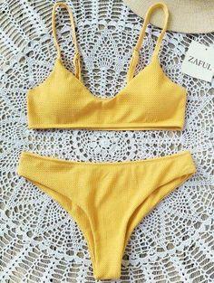 #Zaful - #Zaful Bralette Bikini Set - AdoreWe.com