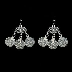 NWT Pretty Silver Bohemian Fashion Coin Earrings NWT Pretty Silver Boho Fashion Coin Earrings. Matching Necklaces Available In My Closet.  Bundle Discount Available. Jewelry Earrings