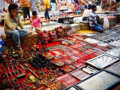 The Calungute Market square in Goa offers trinkets and more..