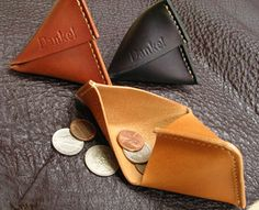 Gute Gouter | Rakuten Global Market: In the giveaway! The memorabilia!  Put the hand-made leather Nume leather coin purse accessories to fit!  Storage show! Triangular case fs3gm