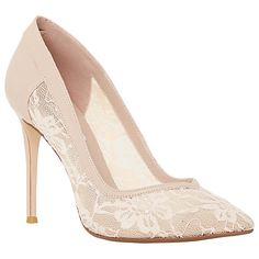 Buy Dune Buffie Lace Court Shoes, Blush Online at johnlewis.com