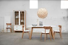 The Enza Dining Chairs from Hunter Furniture is a modern Scandinavian inspired design featuring clean lines and a uniquely simple design.