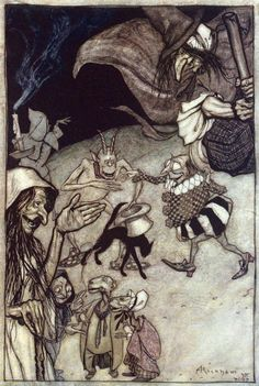 Arthur Rackham, from The Ingoldsby legends, by Thomas  Ingoldsby