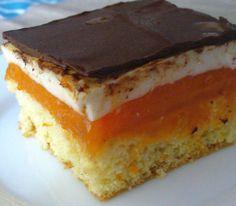 Kostky s meruňkovým želé a tvarohem | recept. Meruňky jsou snad nejoblíbenějším ovocem nejen k přímé konzumaci, ale i Cottage Cheese Recipes, Pavlova, Fika, Nutella, Sweet Recipes, Sweet Tooth, Sandwiches, Cheesecake, Food And Drink