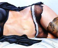 "Saatchi Art Artist christophe kro; Painting, ""black satin"" #art"