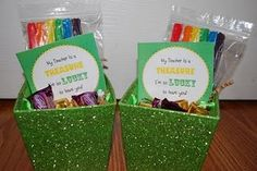 """Free labels for St. Patrick's day. """"My teacher is a TREASURE.  I'm so LUCKY to have you!"""""""