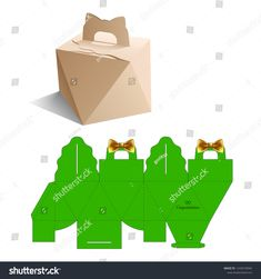 New Year Christmas Birthday Bow Box Stock Vector (Royalty Free) 1243274044 Origami Shapes, Origami And Kirigami, Origami Box, Box Packaging Templates, Gift Box Packaging, Packaging Design, Congratulations Images, Paper Box Template, Gift Wraping