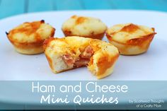 Scattered Thoughts of a Crafty Mom: Ham and Cheese Mini Quiches