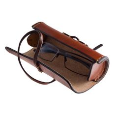 Leather case for glasses