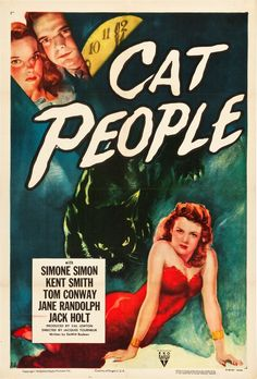 "Cat People (RKO, R-1952). One Sheet (27.5"" X 41"").. ... Movie 