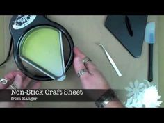 tim holtz - shrink plastic, the melting pot, ultra-thick embossing enamel (utee), and alcohol inks  (video)