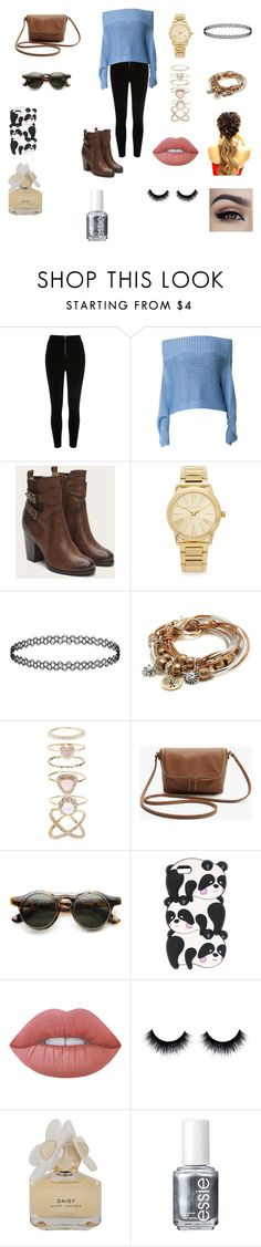 """Comfort"" by keilydelgado on Polyvore featuring River Island, TIBI, Michael Kors, Lizzy James, Accessorize, Lime Crime, Marc by Marc Jacobs and Essie"