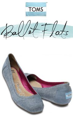 These are some Toms I can get behind . . . I really don't like the cut of the classic ones.  (TOMS Shoes Katia Chambray Ballet Flats)  (Trying to get the product page gets a 404 right now though)
