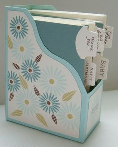 "Organize cards - this could totally be done with an ""upcycled"" box! Love it!"
