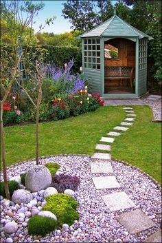 Front Yard Garden Design 75 Beautiful Front Yard Rock Garden Landscaping Ideas - Page 18 of 76 - Why nurture a rock garden? ) They are low-maintenance. Small Backyard Landscaping, Backyard Garden Design, Garden Landscape Design, Small Garden Design, Landscape Designs, Landscaping Design, Backyard Ideas, Walkway Ideas, Landscaping Software