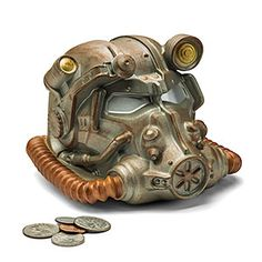 The best way to keep your spare caps or pre-war coins safe! Sculpted to look just like the T-60 power armor helmet, no one will dare mess with your change - they'll assume you're wearing the rest of the power armor! Nuka-Cola caps not included.