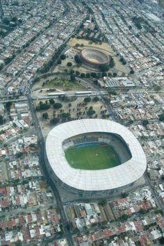 Estadio Jalisco y Plaza de Toros Nuevo Progreso, Guadalajara, Jalisco, México.