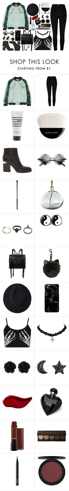 """someone to fall back on"" by skittlebum ❤ liked on Polyvore featuring Opening Ceremony, River Island, Pirette, Giorgio Armani, Alexander Wang, Urban Decay, NKUKU, Gathering Eye, McQ by Alexander McQueen and Boohoo"