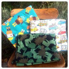 Snuggle/Cuddle Blanket, Receiving Blanket, Swaddle Blanket--Dinosaurs, Robots, Transportation on Etsy, $14.00