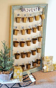 Rustic Christmas Advent Calender #adventcalenders #christmasadvents