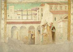 Benozzo Gozzoli - Maria al tempio dal ciclo Tabernacolo della Visitazione - 1491-92 - affreschi staccati - BEGO-Museo Benozzo Gozzoli - Castelfiorentino