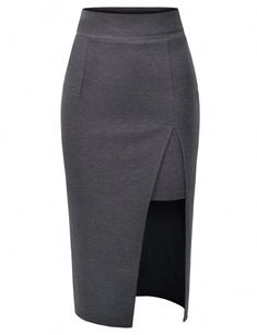 pencil skirt and tshirt outfit Pencil Skirt Casual, Pencil Skirt Outfits, Pencil Skirt Black, Pencil Skirts, Pencil Dresses, White Skirt Outfits, African Wear Dresses, Stylish Coat, Formal Skirt