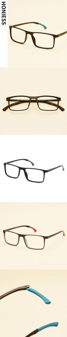 Unisex Squared Spring Hinge Fashion Celebrity Clear Lens Glasses