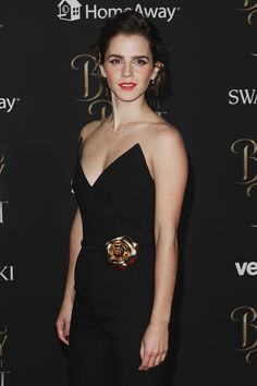 """Emma Watson at the premiere event for """"Beauty and the Beast"""" held at the El Capitan Theatre in Hollywood Los Angeles, California  on March 2, 2017. Pinned by @lilyriverside"""