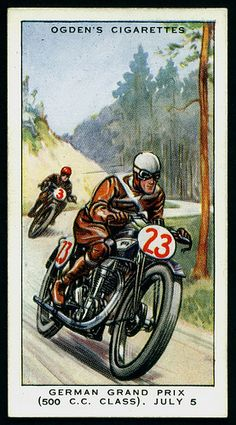 Cigarette Card - German Motor Cycle Grand Prix (500cc) 1931 | Flickr - Photo Sharing!