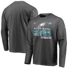Philadelphia Eagles NFL Pro Line by Fanatics Branded Super Bowl LII  Champions Trophy Collection Locker Room Long Sleeve T-Shirt – Heather  Charcoal 60af2019d