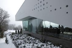 Contemporary Home Perforated With 380 Glass Cylinders - House R was designed by German-based studio Bembé Dellinger Architects. The 380 acrylic glass cylinders perforate the interior and exterior walls German Architecture, Architecture Images, Minimalist Architecture, Residential Architecture, Amazing Architecture, Interior Architecture, Interior And Exterior, Building Facade, Architect House