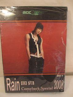 Rain Comeback Special 2008 Brand New DVD K-Pop Korean Singer