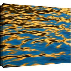 Dean Uhlinger Rogue River Ripples Gallery-Wrapped Canvas, Size: 24 x 36, Yellow