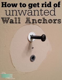 I just wanted to pop in today and share a quick tip I learned not too long ago. When I went to replace all of the hardware in my bathroom makeover, I didn't realize that I would have 5 unwanted wal...
