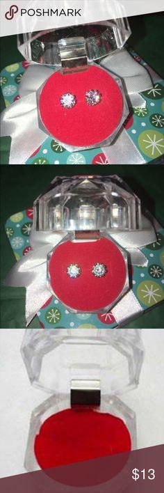 Clear Crystal studded earrings Clear crystal studded earrings jewelry box included Jewelry Earrings