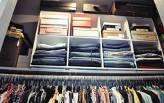 Organization - use cubes for extra closet space
