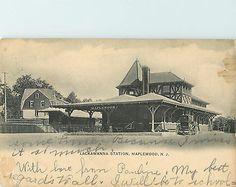 Lackawanna-RAILROAD-Station-MAPLEWOOD-NJ-Scarce-Early-Postcard-1906