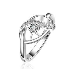 silver plated ring fashion jewelryeyes ceuk ring SMTR653