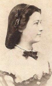 1860's Woman Pretty Woman Profile Net Snood by Laughlin Philadelphia PA CDV | eBay