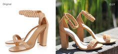 DIY Chloe inspired braided sandals