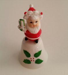 Santa On Bell/Elf in Santa Suit On Bell/Christmas Bell/Elf on Bell/Vintage Santa Bell/Vintage Elf Bell/Bone China Bell/Vintage Christmas by NatomisTreasures on Etsy Vintage Santas, Vintage Holiday, Christmas Bells, Christmas Ornaments, Cow Decor, Santa Suits, Bone China, Elf, Holiday Decor