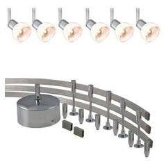JESCO Lighting 144 In. Low Voltage 300W Monorail Kit With 6 White Spots   DISCONTINUED · Flexible Track ...