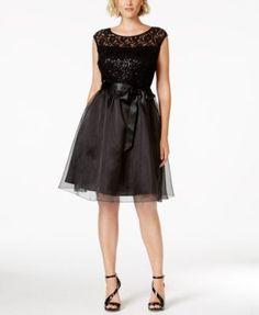 65713b279f4aa SL Fashions Plus Sequined Sash-Tie Party Dress Women - Dresses - Macy s