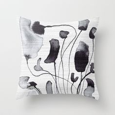 Buy ink flowers by Georgiana Paraschiv as a high quality Throw Pillow. Worldwide shipping available at Society6.com. Just one of millions of products…
