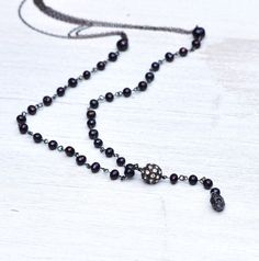 UNTIL DAWN Rosary Necklace by MOONDROPS by MOONDROPSjewlery, $85.00